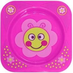 Farfurie Adanca Decorata Baby Care Pink Flower