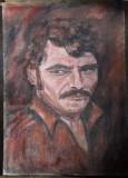 Cumpara ieftin Portret de barbat pictura veche in ulei pe panza