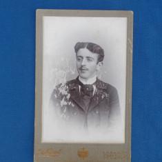 FOTOGRAFIE VECHE PE SUPORT DE CARTON , ALFRED BRAND , SINAIA - PLOESCI , 1902