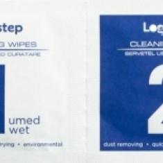 Set curatare LogiStep servetele umede si uscate 5 x 6 cm