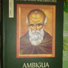 Ambigua 538pagini/an2006- Sfantul Maxim Marturisitorul