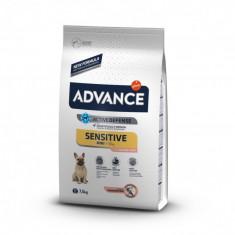 Cumpara ieftin Hrana uscata pentru caini cu Pui si Orez, Advance Mini Sensitive, 7.5 Kg