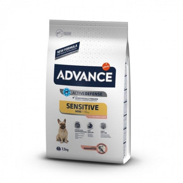 Hrana uscata pentru caini cu Pui si Orez, Advance Mini Sensitive, 7.5 Kg