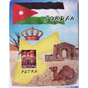 Magnet frigider Petra (Iordania), in tipla, 8x5 cm
