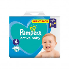 Scutece Pampers Active Baby, Giant Pack, Nr 4, 7-14 kg, 76 buc.