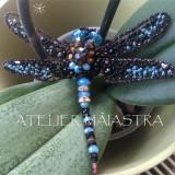 brosa libelula 3D handmade, brosa insecta, accesorii femei, bijuterii cadou
