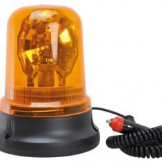 Girofar auto Automax 12V orange cu bec H1 si fixare magnetica, 20x10/15.5cm Kft Auto