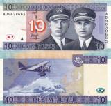 LITUANIA 10 litu 2007 UNC!!!