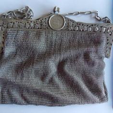 Poseta plasa vintage din argint(383 gr)