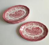 Set vintage de 6 farfurii ovale Royal Staffordshire