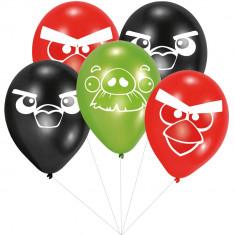 Buchet din baloane latex asortate Angry Birds cu heliu, Amscan BB.450291