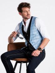 Vesta premium, eleganta, barbati - V49-albastru-deschis foto