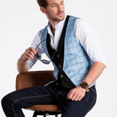 Vesta premium, eleganta, barbati - V49-albastru-deschis