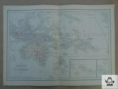Harta color Oceania 1900 foto