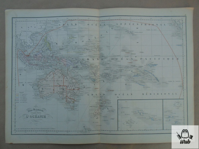 Harta color Oceania 1900