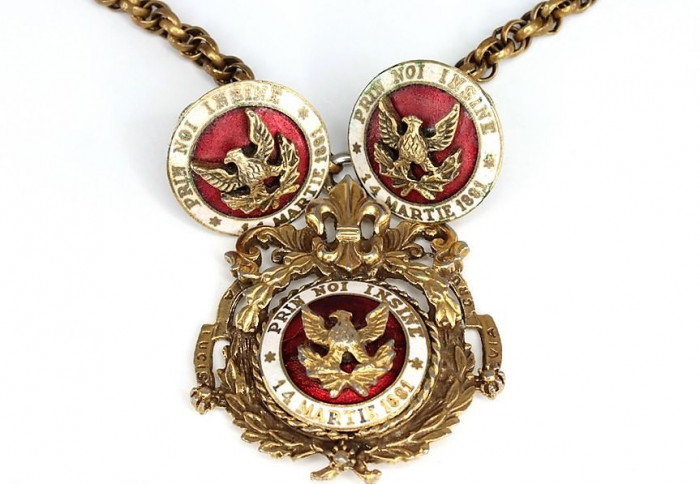 Set complet bijuterii Coro-Regina Maria/Prin Noi Insine 1881 - RARITATE!