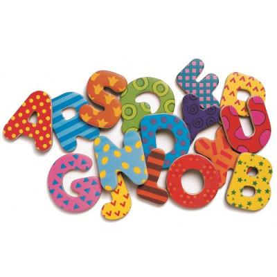 38 Litere magnetice colorate pentru copii foto