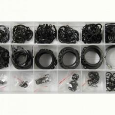 Set agrafe 300 piese, sigurante elastice seeger din otel de arc Kft Auto