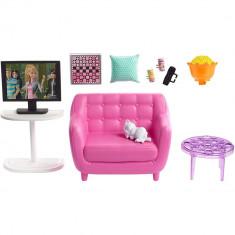 Set Barbie - Mobila sufragerie cu accesorii