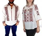 Cumpara ieftin Set Traditional Cuplu 70 Camasi traditionale cu broderie