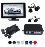 """Senzori parcare cu camera video si display LCD de 4.3"""", Negru"""