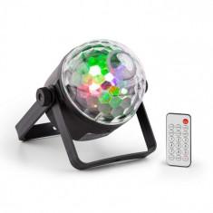 Beamz PLS35 DJ Jellyball, LED-uri 4 x 3 W roșu, verde, albastru și UV, DMX sau funcționare autonomă