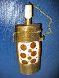 Sticla Parfum alama intarsii sidef cu stelute aurii. Perioada 1900-1930.