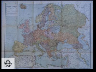 Harta Europa color interbelic foto