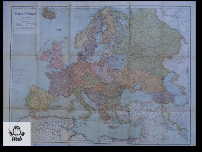 Harta Europa color interbelic
