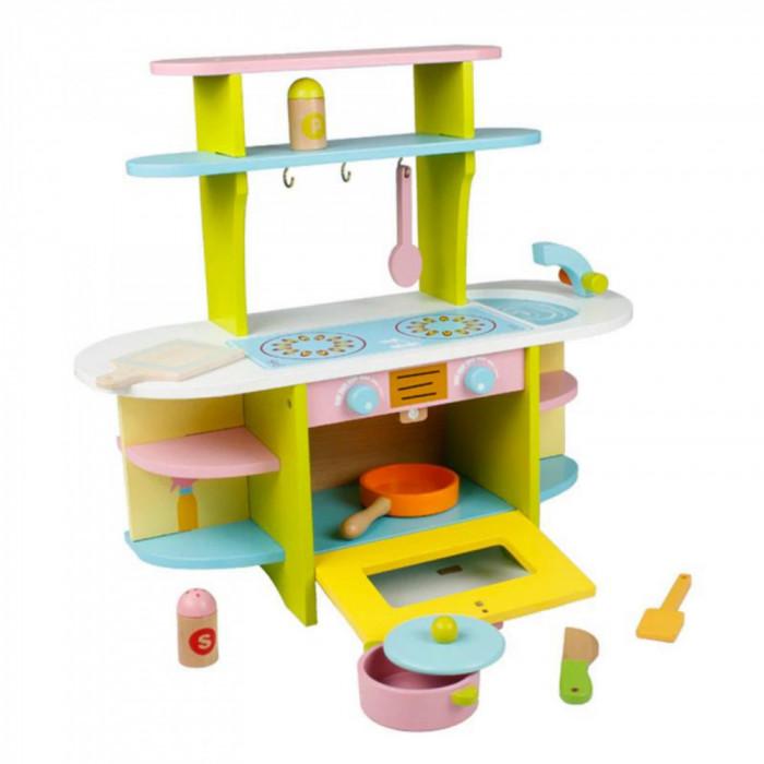 Bucatarie din lemn pentru copii, cu accesorii