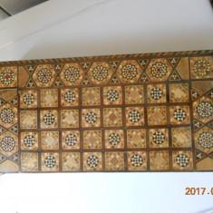 Cutie sah/table intarsiata cu sidef/furnir color in stil oriental 39,5x19,5 h8cm