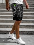 Cumpara ieftin Pantaloni scurți de trening bărbați negri Bolf KS2508