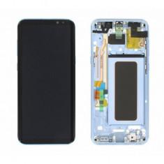 Display cu touchscreen cu rama bleu samsung galaxy s8+ g955