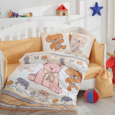 Lenjerie de pat pentru bebelusi, bumbac 100% poplin, Zen Art Deco