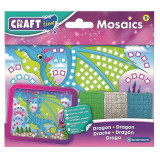 Set creativ mini-mozaic Brainstorm, 200 autocolante, 3 ani+, model dragon