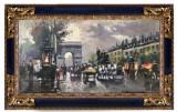 39 Arc Triumf, tablou cu peisaj urban, tablou cu aglomeratii urbane 29x55 cm