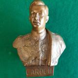 IOAN, DIMITRIU- BĂRLAD - sculptor - statuietă  bust - CAROL II - 1938 - bronz