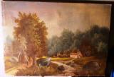 Cumpara ieftin Ulei pe panza - Peisaj cu padure - vechime mare