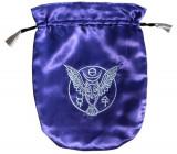 Punga satin pentru carti de tarot Bufnita cu rune