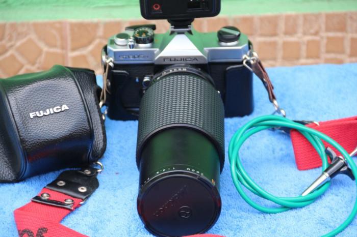 Aparat foto FUJICA ST605N + Blitz + Declansator