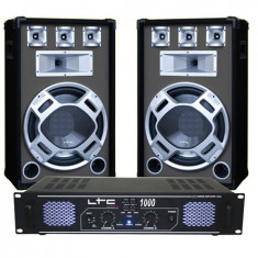 SET BOXE 15 inch BASIC GRI + AMPLIFICATOR LTC1000