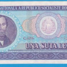 (11) BANCNOTA ROMANIA - 100 LEI 1966, PORTRET NICOLAE BALCESCU,STARE FOARTE BUNA