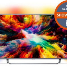 Televizor LED Philips 165 cm (65inch) 65PUS7303/12, Ultra HD 4K, Smart TV, Android TV, Ambilight, WiFi, CI+