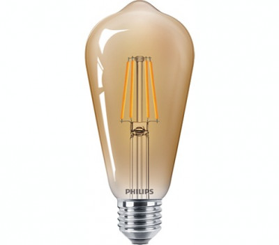 Bec LED Philips E27 2500K foto