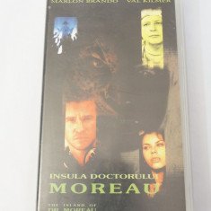 Caseta video VHS originala film tradus Ro - Insula Doctorului Moreau