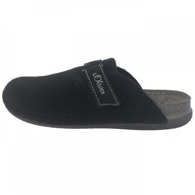 Papuci de casa barbati, din textil, sOliver, 17301-1, negru foto
