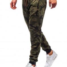 Pantaloni trening bărbați camuflaj-verde Bolf MK19
