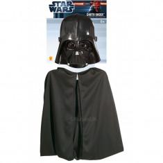 Masca si pelerina Darth Vader Ep 3, 3 ani+, Negru