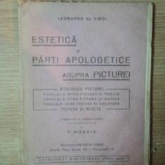 ESTETICA SI PARTI APOLOGETICE ASUPRA PICTURII de LEONARDO DA VINCI
