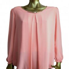 Bluza din voal casual de culoare corai